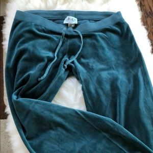 Juicy couture pants -velour. Teal blue/green